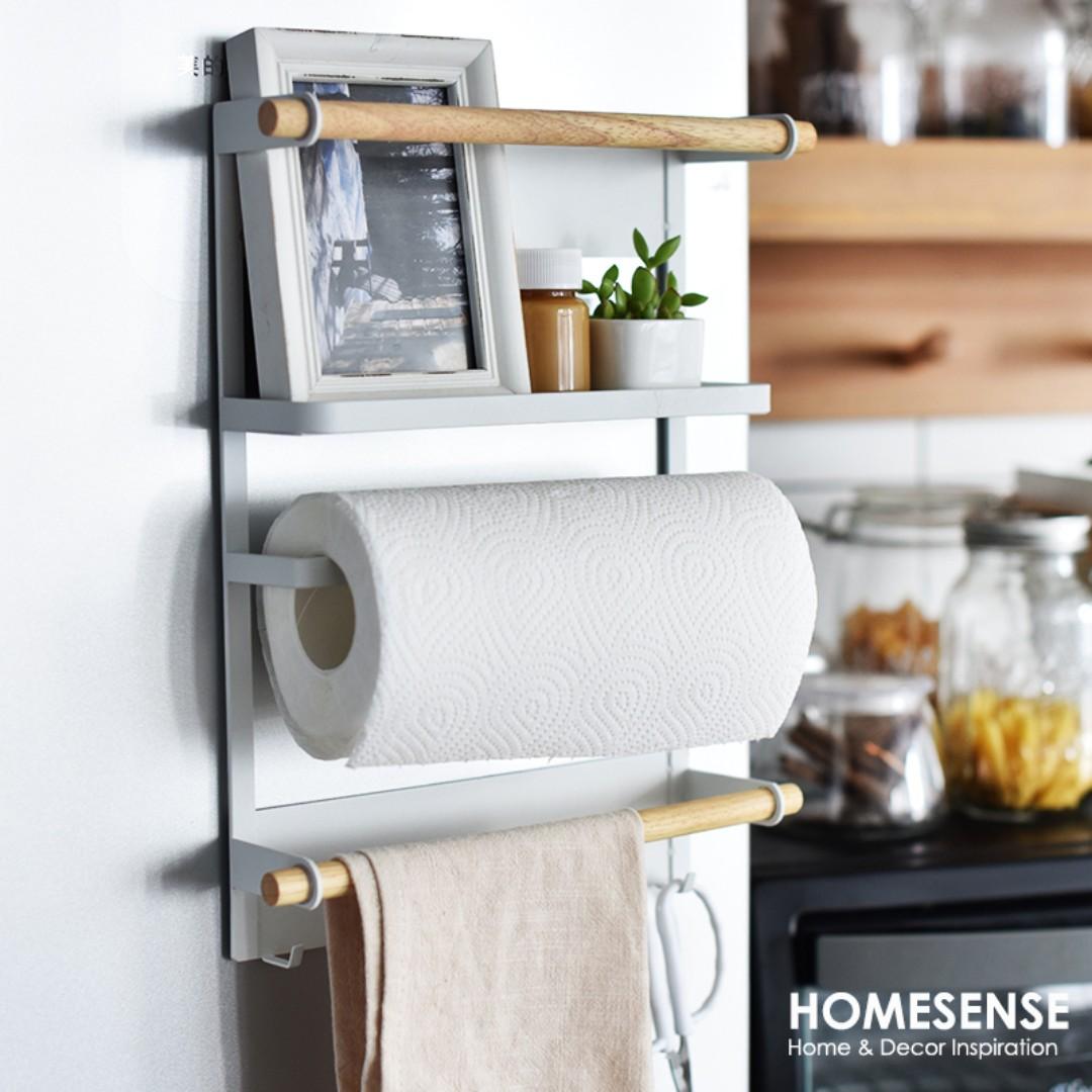 Iron Fridge Magnetic Storage Rack (WHITE), Home & Furniture, Home ...