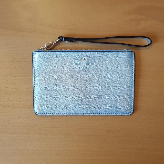 KATE SPADE wristlet wallet silver
