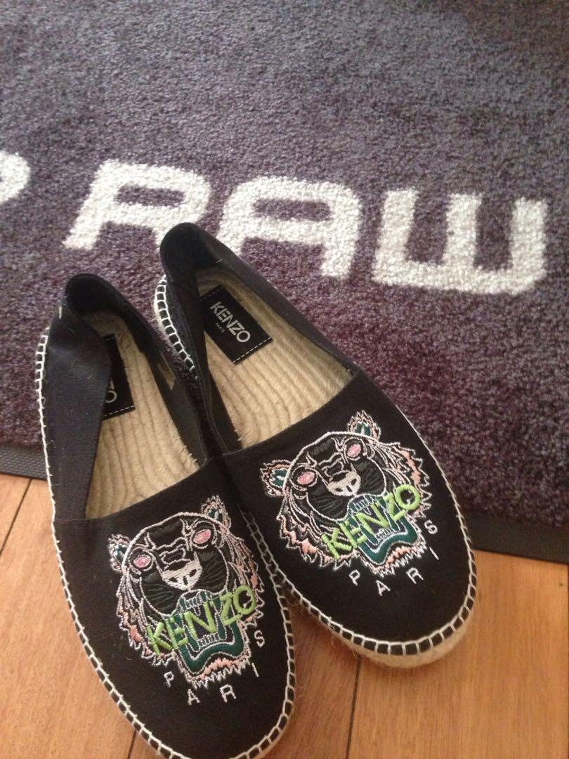 5cbe7c947 Kenzo Black Canvas Classic Tiger Espadrilles Gucci Louis Vuitton Supreme  Off White