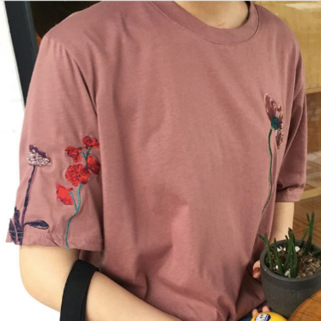 K-style embroidered t-shirt