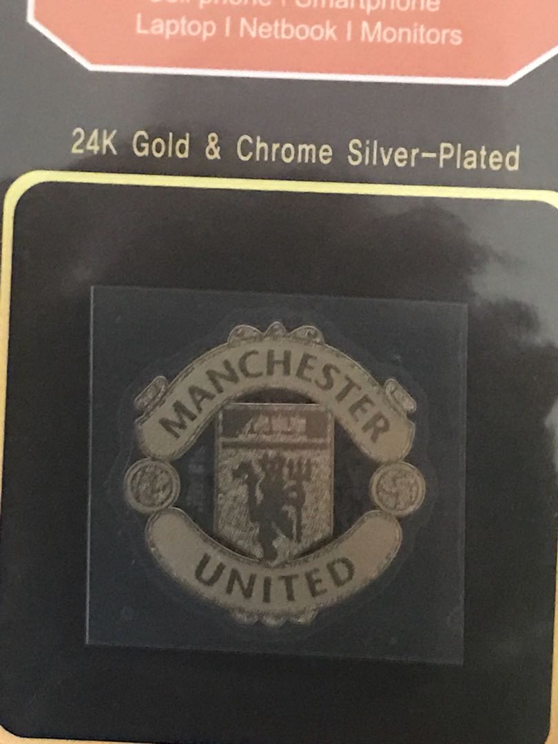 Manchester United Football Club Metal 24K Gold Plated sticker