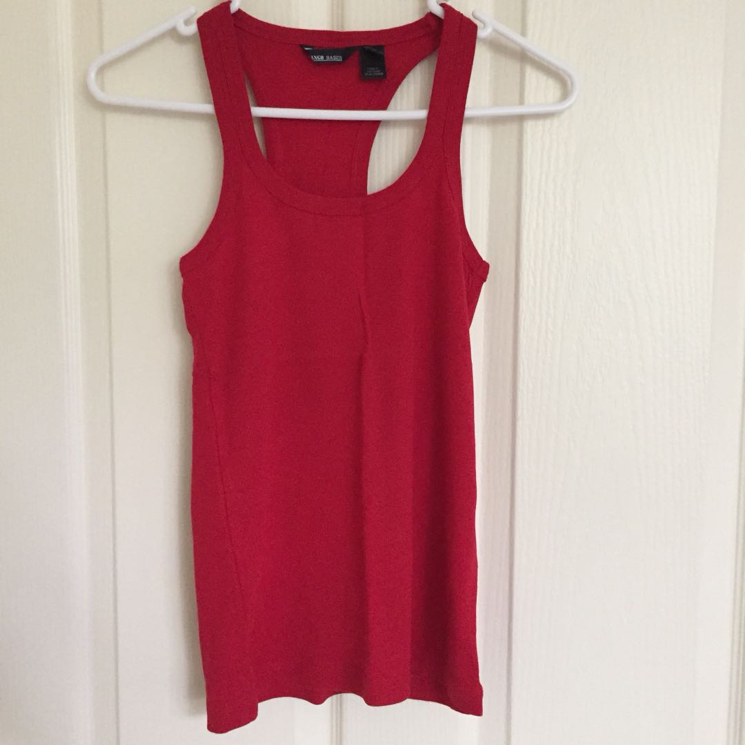 Mango Basics Red singlet-top size s