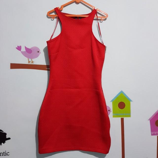 Mango original dress merah or red