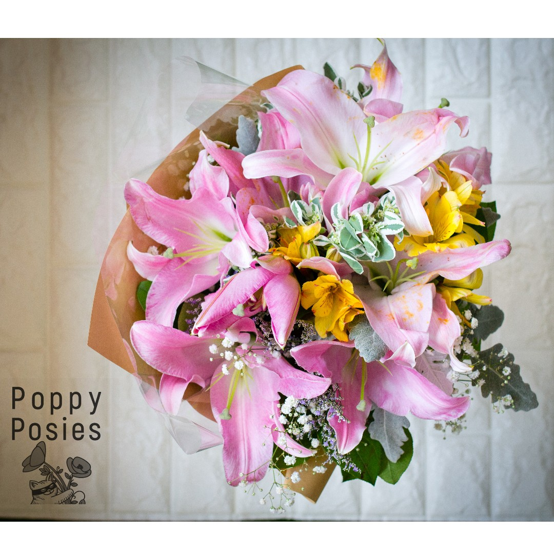 Mothers Day Flower Bouquet Mixed Lilies Astro Bouquet Flowers