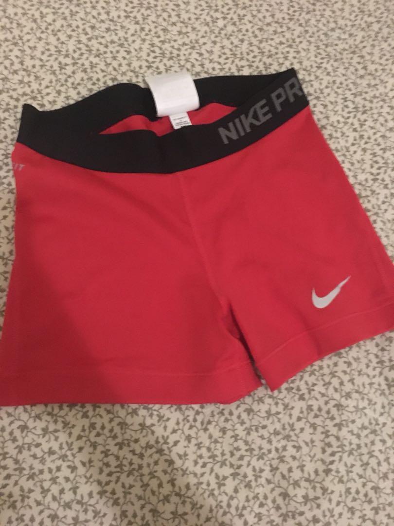 Nike red gym shorts