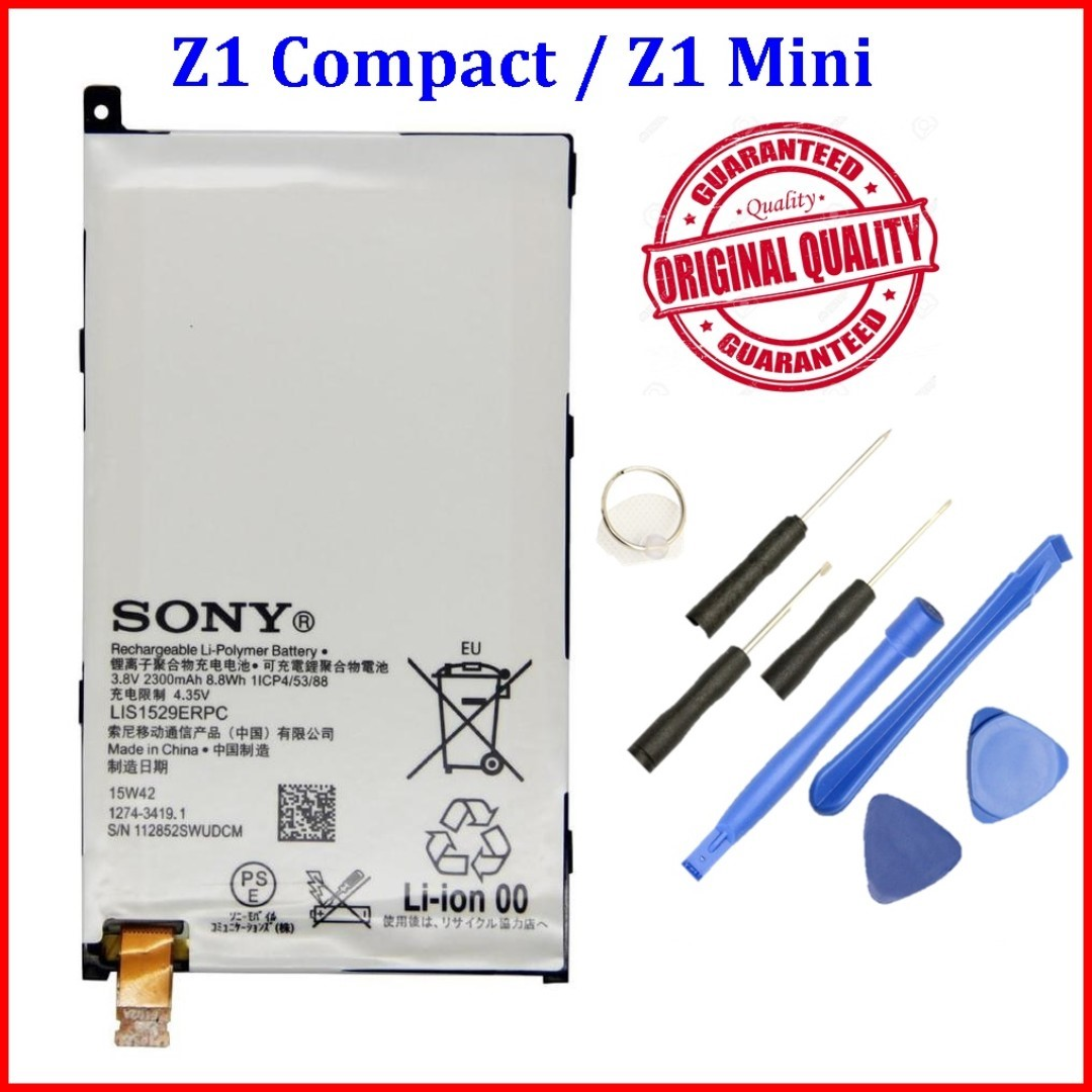 Original Quality 2300mah Sony Xperia Z1 Compact Battery Mobile Baterai Mini Phones Tablets Tablet Accessories On Carousell