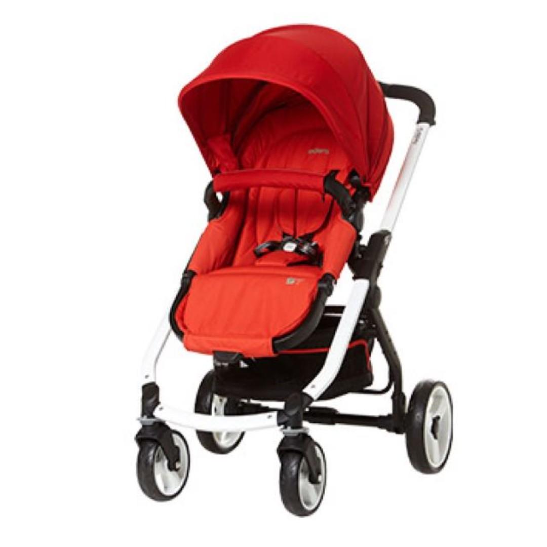 PL] S7 Red stroller baby newborn infant toddler pram push