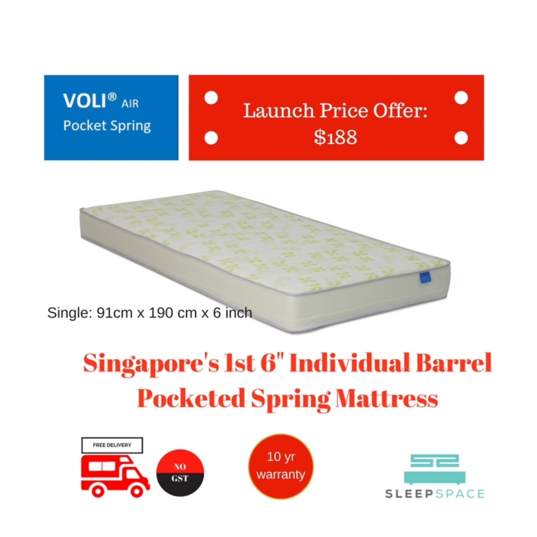 Pocketed Spring Mattress 6 For Kids Bunk Bed Pullout Bed