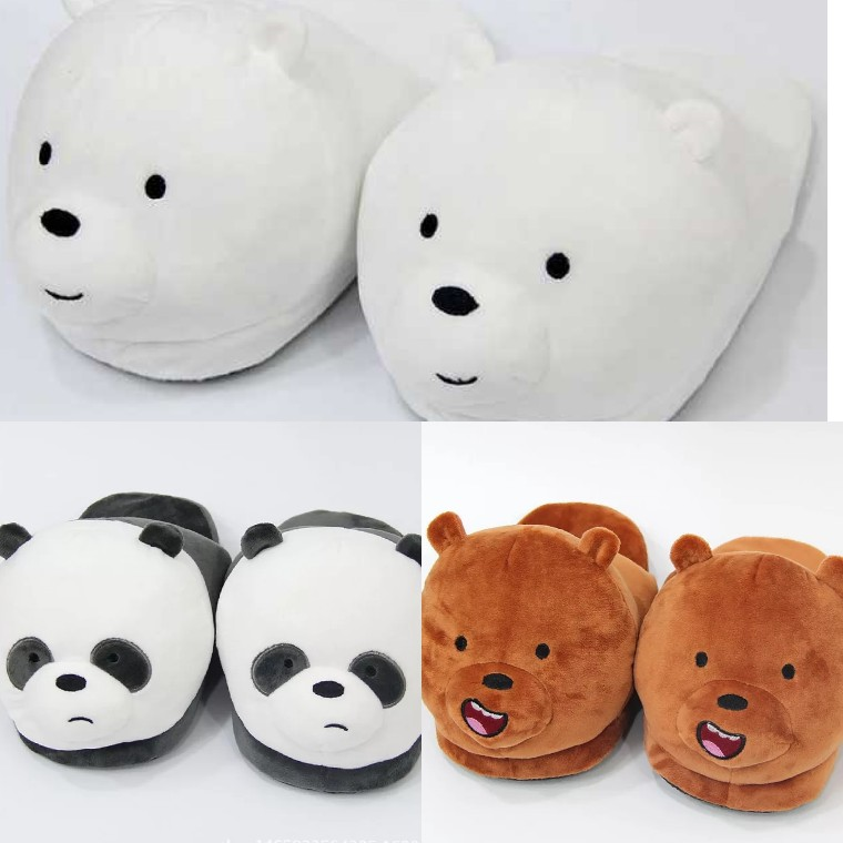 3bb13653d7c0 Preorder  (Free Normal Mail) We Bare Bears Bedroom Slippers ...