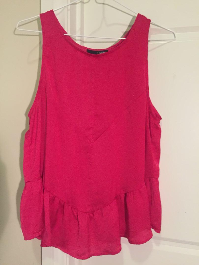 Red/ pink satin top