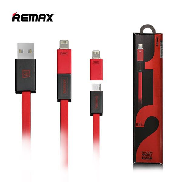 REMAX Shadow 2 in 1 Magnet Data Cable (Red)