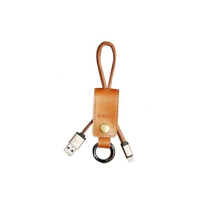 Remax Western Cable RC034i Brown Genuine Leather Keychain