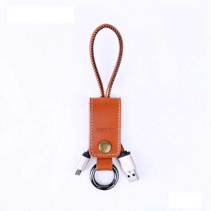 Remax Western Cable RC034m Brown Genuine Leather Keychain
