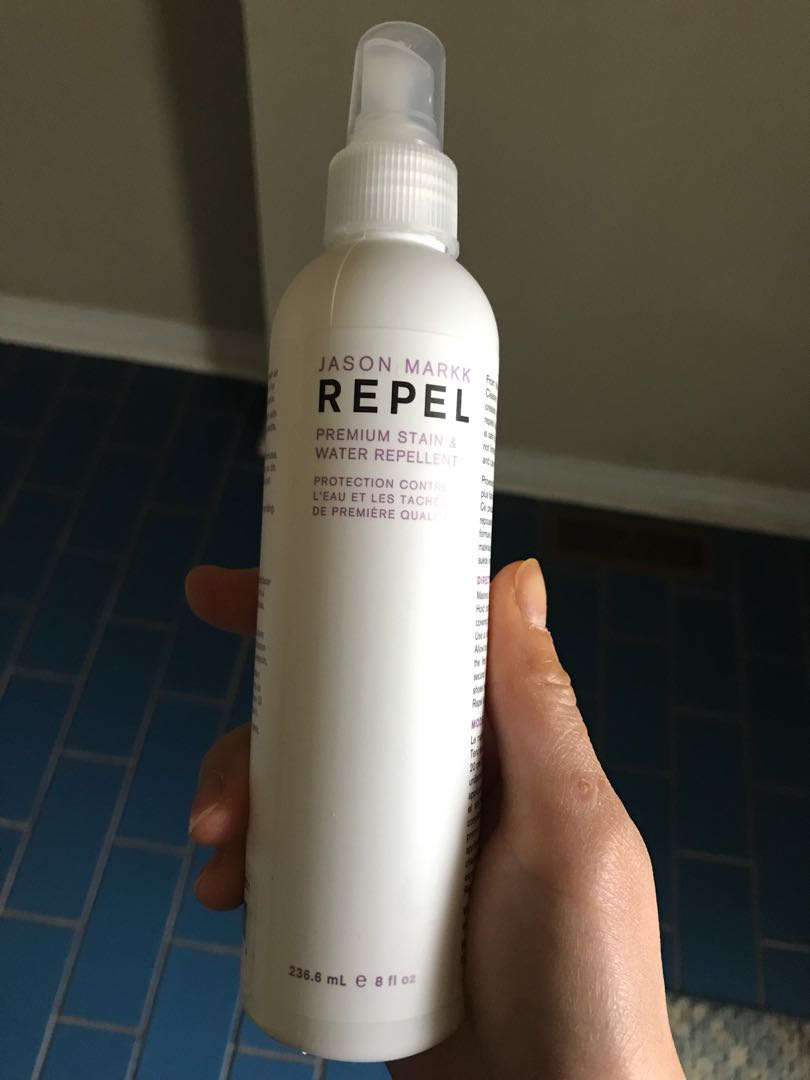 Running shoe protectant spray