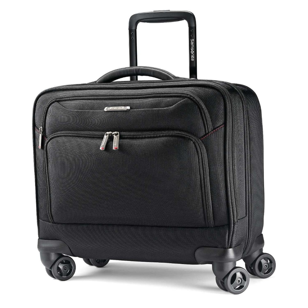 fb9c7197cf0068 Samsonite Xenon 3.0 Spinner Mobile Office Laptop Bag Business Travel Pilot  Cabin Size Carry On Suitcase Luggage 8 Wheel Wheeled Black, Luxury, ...