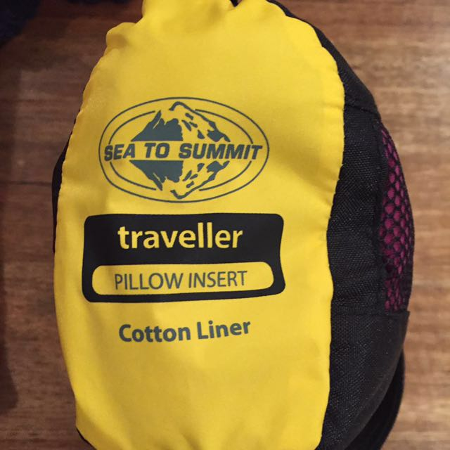 Sea To Summit 100% Cotton Sleeping Bag Liner With Pillow Insert