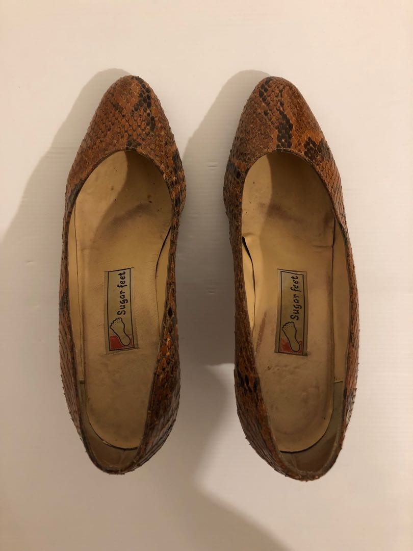 Vintage SNAKESKIN SHOES - size 9/9.5