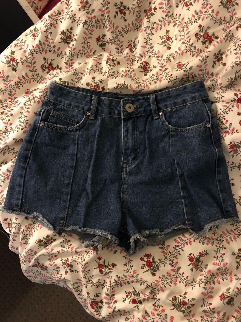 Zig-Zag Hem Shorts