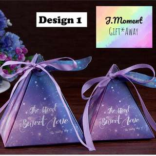 [PROMOTION + IN-STOCK] Galaxy gift box #Wedding Door Gift #Wedding favors