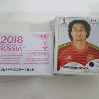Panini World Cup 2018 Stickers for Sale (Please refer to list below)