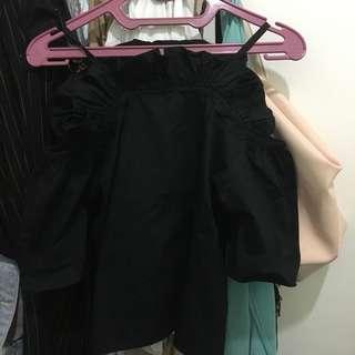 Cotton Ink Black Blouse