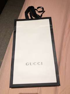 Gucci Paper Bag Same as Instore now