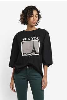 BN MANGO Printed Message T-Shirt