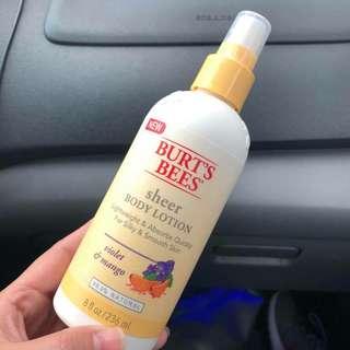 Burts Bee's Sheer Lotion
