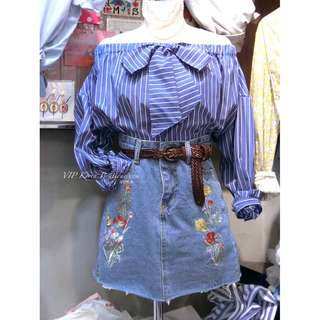 『網路限定』1QVIP023 維多利亞4牛仔裙