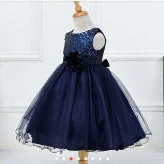 princess dress navy blue (prelove)