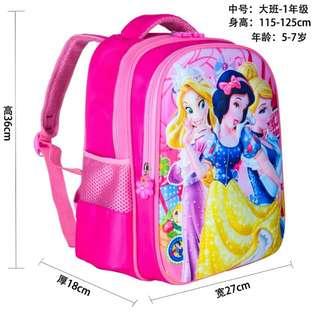 Snow white Girl School Bag
