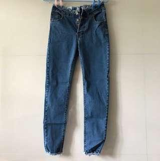 藍色牛仔長褲👖