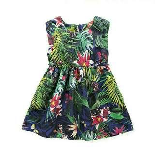 Tropical hawaiian floral dress