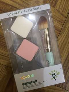 Make up brush and face sponge