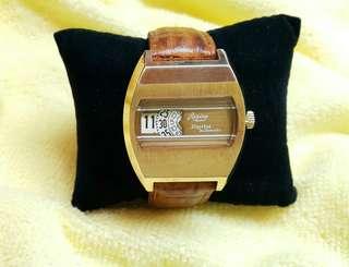 Regina 60年代數字顯示機械自動 jump hour 手錶