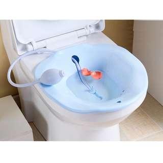 100%全新 免蹲噴水式 準媽媽坐月潔身坐浴盆 坐廁盤 產後用品 孕婦洗屁股盤 痔瘡術後護理盆