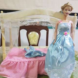 Barbie Doll and Bed