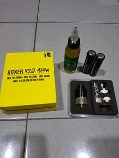 Vape Boxer V20 free liquid dan baterai