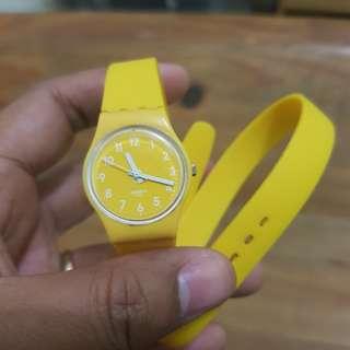 Swatch Yellow watch