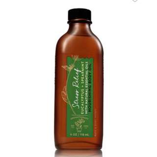 Aromatherapy by Bath and Body Works Stress Relief Eucalyptus and Spearmint Shea Argan Nourishing Body Oil