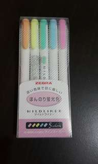 Zebra 斑馬牌淡色瑩光筆