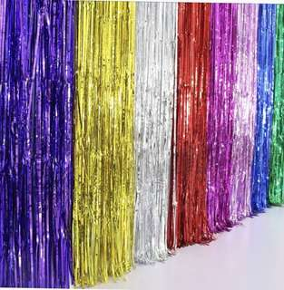 Foil curtain in different colours