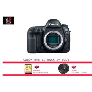 CANON EOS 5D MARK IV BODY WITH LENS KIT EF-S 50MM F1.8 STM