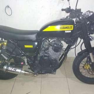 Cover Shock USD new Yamaha Scorpio Full bulat