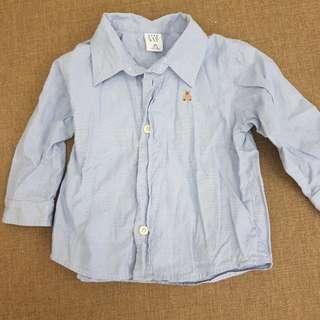 GAP男童裝長袖襯衫12-18m