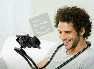 Lazy neck flexible phone holder