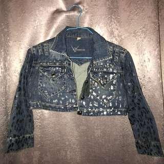 Bebe Cropped Denim Jacket
