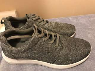 Gray and sparkles sneakers