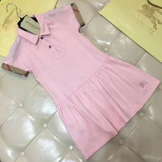 urberry女童短袖連身裙 Size: 120-160cm $669  粉/寶藍/棗紅 3色