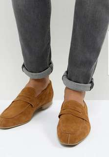 Asos Loafers Brown Suede